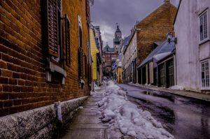 snow melting in street - dangers spring driving